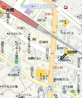 らーめん大 福岡大橋店地図